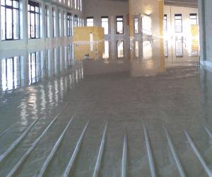 Ondervloer leggen ondervloeren vloerverwarming system floors